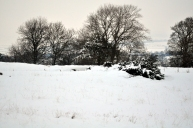 Hadrians wall under the snow somewhere