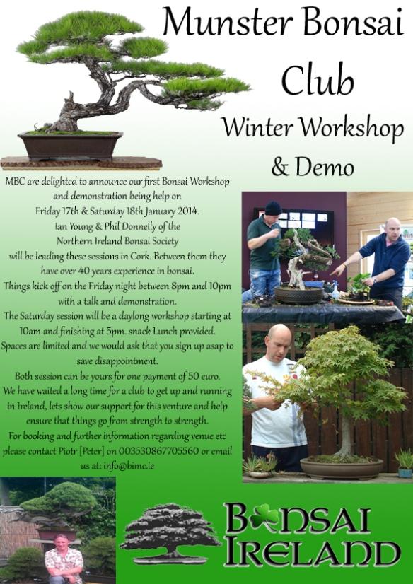 Munster Club Workshop poster